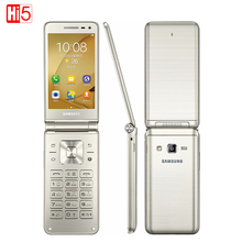 Original font b Samsung b font Galaxy Folder G1600 2016 Dual SIM LTE Cellphone 480x800 Quad