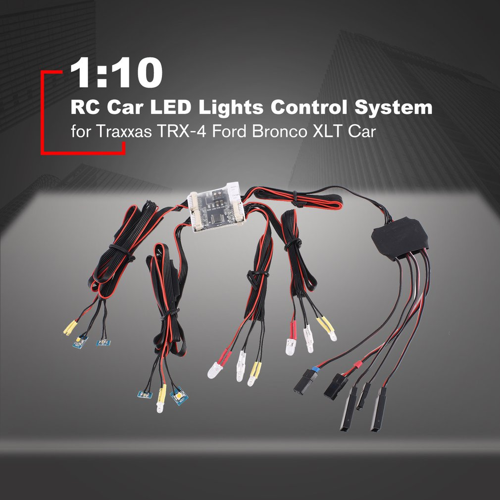 1:10 RC Car LED Lights Control System For Toy TRX 4 Bronco XLT Car 1set of LED Lights for Toy TRX4 Bronco RC Hobby Parts