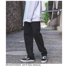 Privathinker בציר מטען מכנסיים סרבל גברים 2019 Mens Streetwear הרמון מכנסיים זכר היפ הופ אופנת מעצב ישר מכנסיים