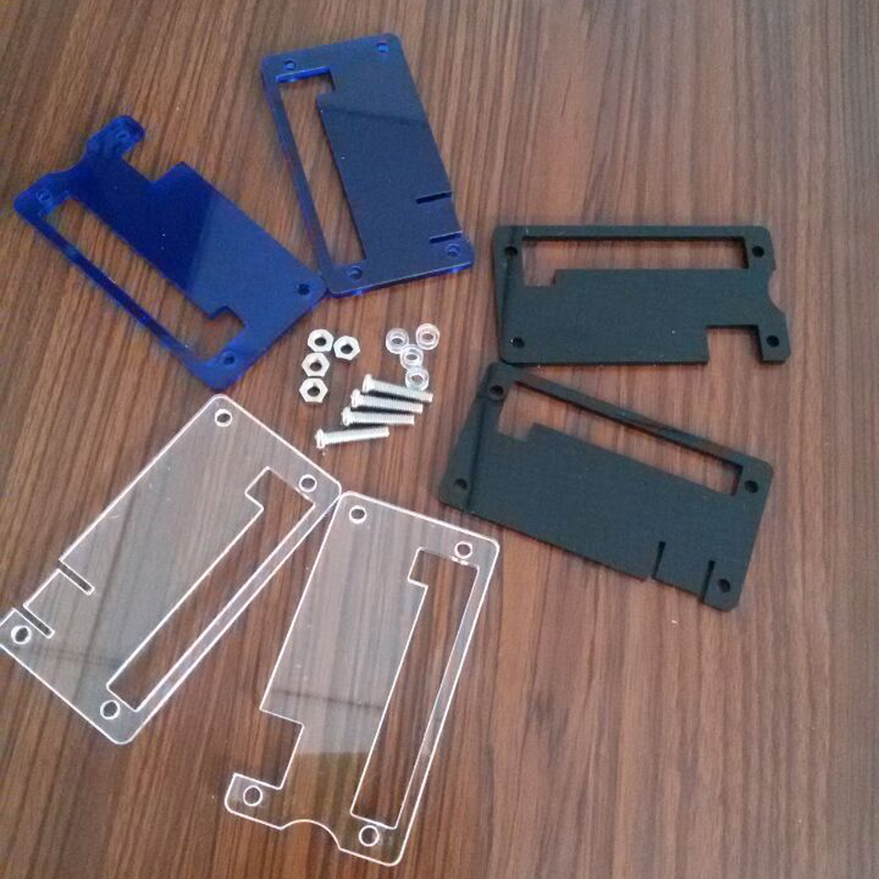 For Raspberry pi Zero Adaptors Shell Protective Case Cover Housing Acrylic Enclosure Box Transparent Blue Black