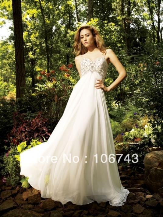 free shipping 2016 new style best seller Sexy bride Custom size beading spaghetti straps wedding dress