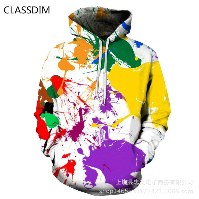 Mens Hooded Sweatshirts 3D Printing Hooded Pullovers New Fashion Men Loose Hoodies Hip Hop Style sweatshirts Size 4XL