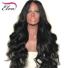 Elva Hair Full Lace Human Hair Wigs For Black Women Body Wave Wigs Pre Plucked Hairline 10-26inches Brazilian Remy Hair Wigs