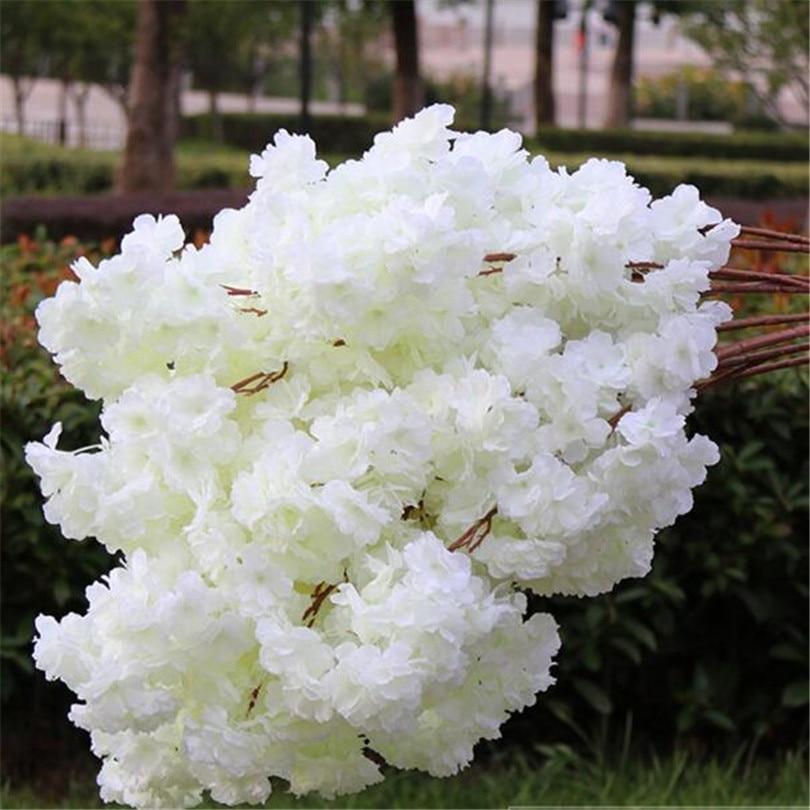18pcs 인공 벚꽃 지점 가짜 사쿠라 꽃 줄기 더 많은 꽃 머리 12 색 결혼식 사쿠라 트리 장식-에서인공 & 건조 꽃부터 홈 & 가든 의  그룹 1