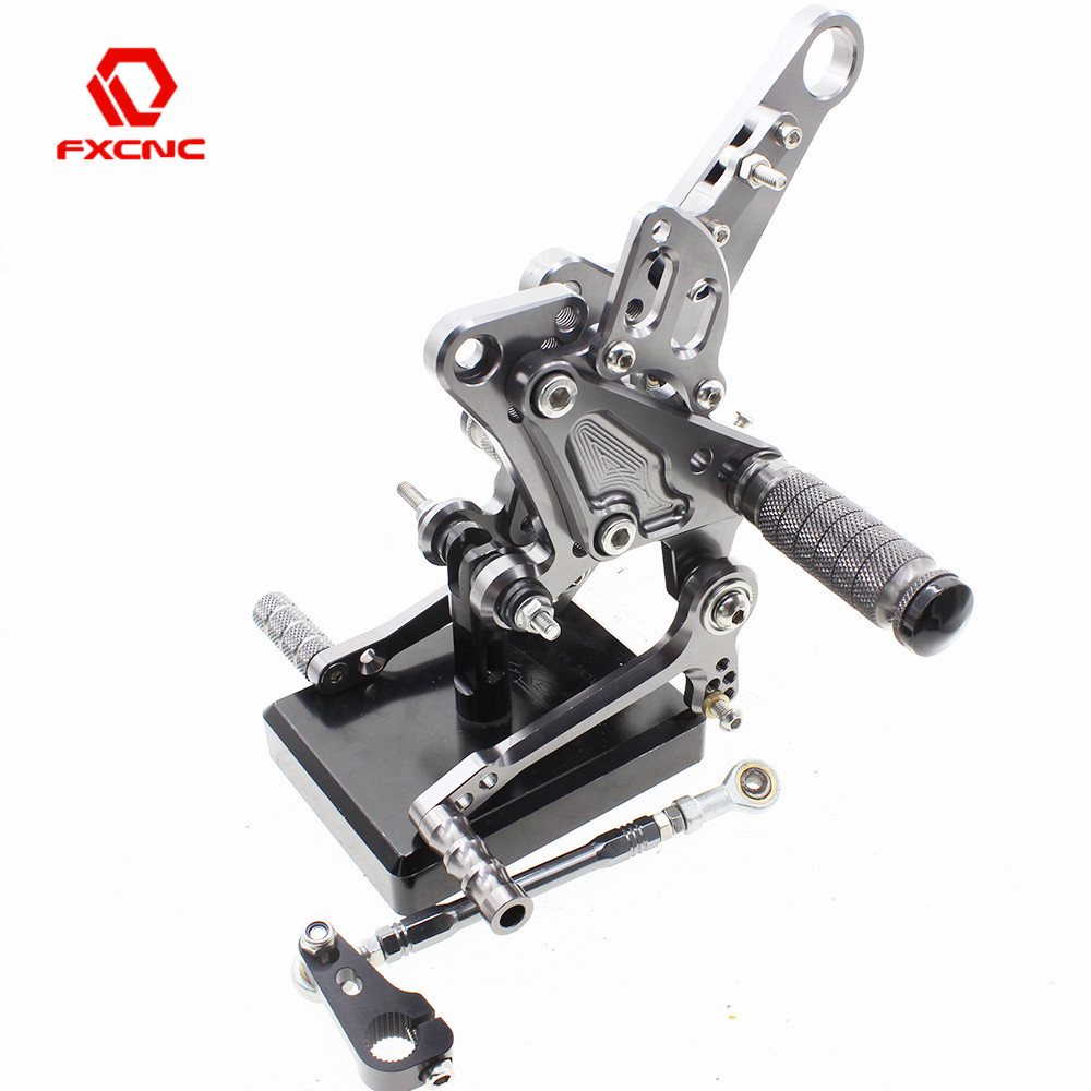 FXCNC Aluminum Adjustable Motorcycle Rearsets Rear Set Foot Pegs Pedal Footrest For DUCATI Carbon 2011 2016 2015 2014 2013 2012