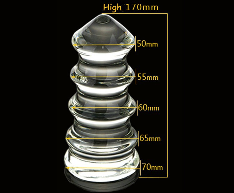 Diameter 7cm(2.76in) large big Tower Style Crystal Glass Butt Plug,anal plug glass anal dildo toys beads adult sex toys for men diameter 7cm huge anal plug mushroom head anal sex toys butt plug 3 color choose anal plug adult sex toys for men gay sex toys
