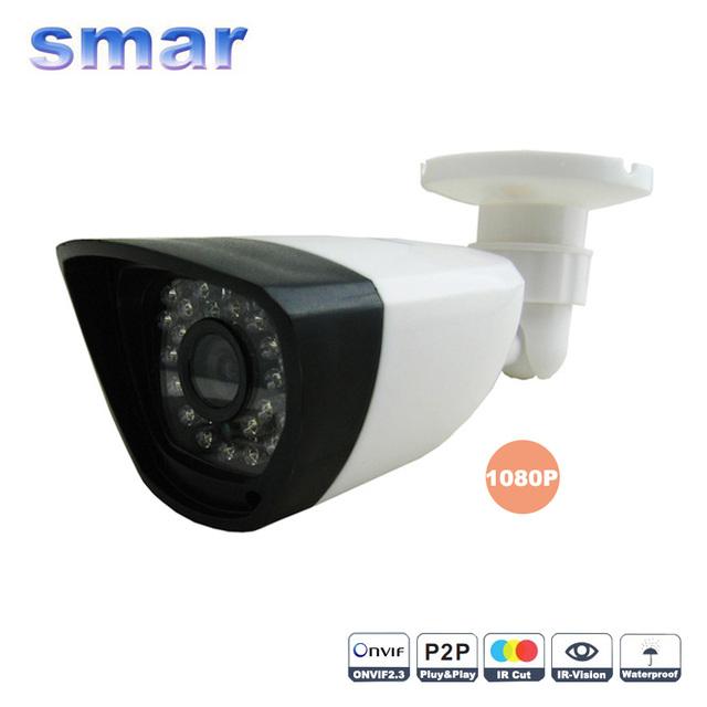 Onvif 2MP CCTV 1080 P HD Rede IP Câmera Ao Ar Livre À Prova D' Água Bala câmera de 2 Megapixels Lente Filtro IR CUT P2P Nuvem 30 Leds nova
