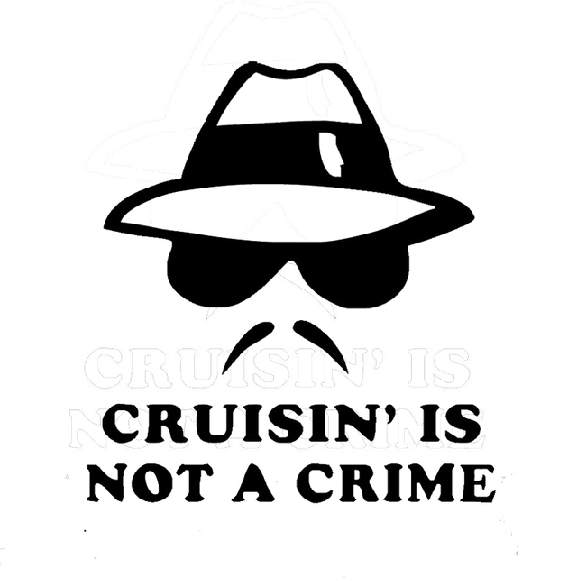 Wholesale 10pcs lot 20pcs lot cruising is not a crime funny symbol funny bumper
