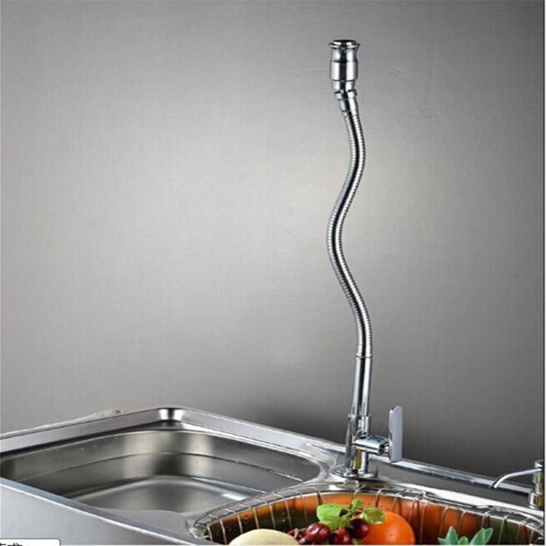 360 degrés Creative rotation simple trou unique cuisine froide robinet, chrome en laiton pivotant mélangeur de cuisine robinet, torneira cozinha