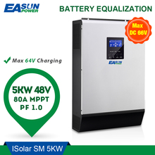 Easun Power Omvormer 5000W 80A Mppt Off Grid Inverter 48V 220V Hybride Omvormer Zuivere Sinus inverter 60A Batterij Oplader