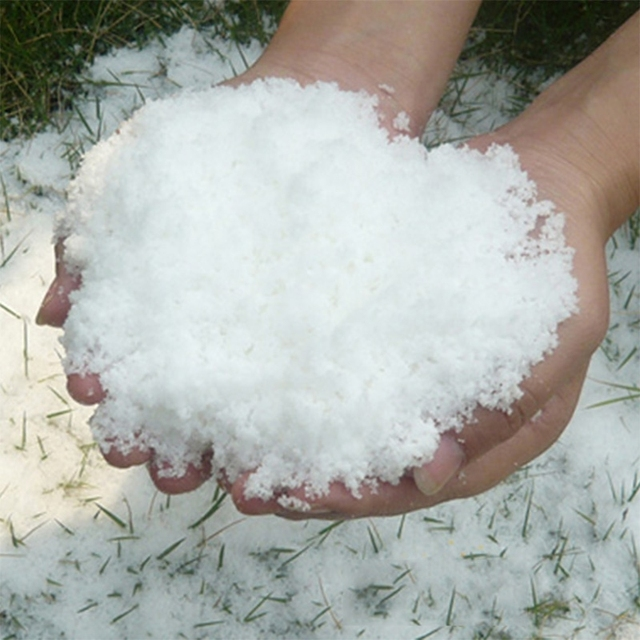 Christmas Fake Magic Instant Snow Fluffy Super Absorbant Decorations For Christmas Wedding 5PCS/Bag 4
