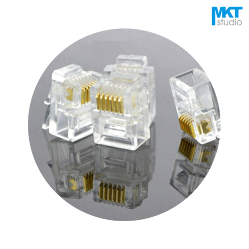 100 Pack RJ11//12 6P6C Modular Connector for Flat Cable