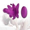 Correa en el Consolador vibrador De Mariposa de Control Remoto inalámbrico bragas vibrantes clítoris estimulación juguetes sexuales para las mujeres sexo productos