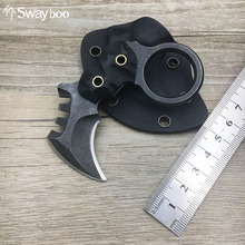 Swayboo High Quality Camping Outdoor Karambit Knife Stainless Steel Mini edc Knife Faca Survival Knife Mcusta with cover(China)