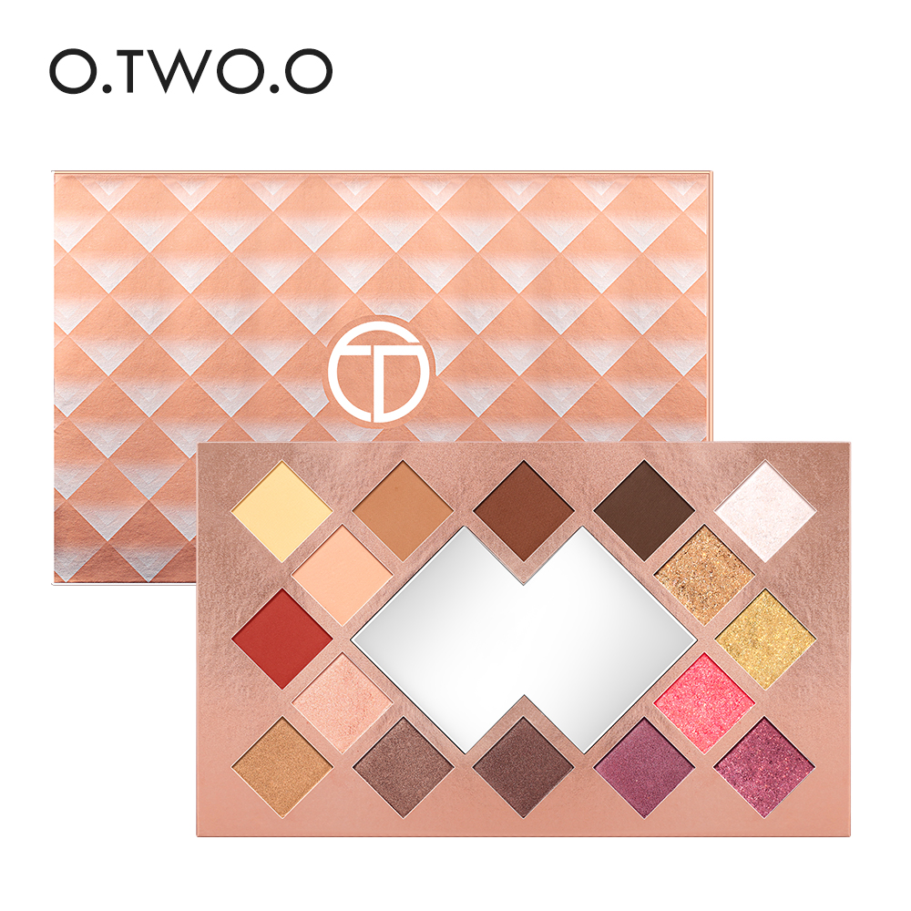 O.TWO.O 16 Colors Palette Eyeshadow Shimmer Eyeshadow Palette Matte Highlighter Eye Shadow Glitter Palette Make Up 12 colours shimmer matte eyeshadow palette
