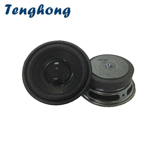Tenghong altavoces de Audio de rango completo, 2 uds., 4ohm, 3W, Bluetooth, altavoz portátil para reparación de robots, bricolaje, altavoz redondo de 52MM