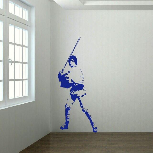 Adhesive Wall Art large luke skywalker star wars vinyl self adhesive wall art room