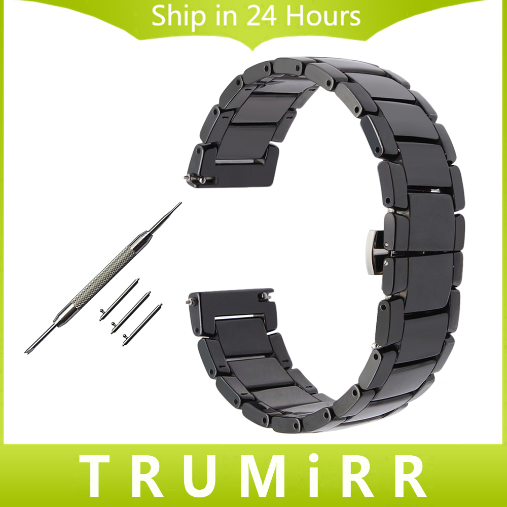 22mm Quick Release Ceramic Watchband +Tool for Tissot Longines Mido Luminox Seiko Watch Band Steel Butterfly Clasp Wrist Strap longines часы купить в москве