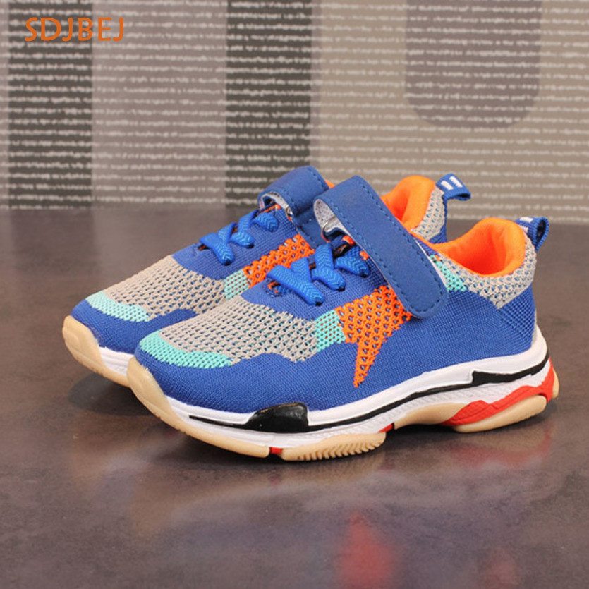 Fashion Casual Girls Boys Shoes For Summer Mesh Sapatos Menino Breathable Sports Kids Shoes For Boys Chaussure Garcon ...