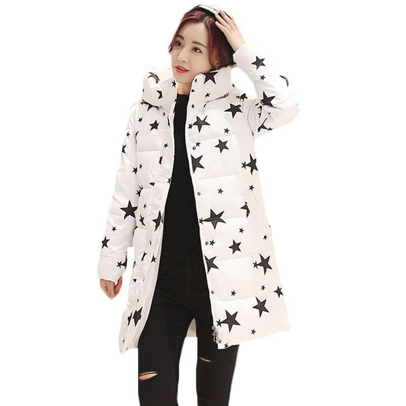 Sıcak Satış Yeni Sonbahar Kış Kadın Ceket Palto Kore Uzun Kapşonlu Aşağı Ceket Parkas Öğrenci Sıcak Pamuk Ceket Femininas C454