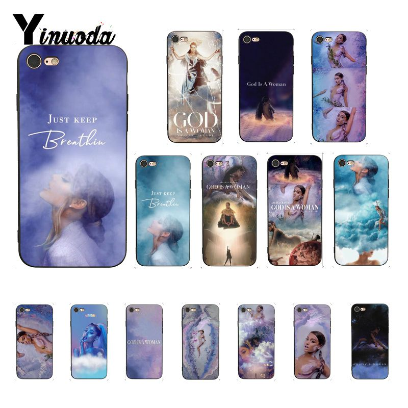 Yinuoda <font><b>Ariana</b></font> <font><b>Grande</b></font> God is a woman Coque Shell Phone <font><b>Case</b></font> for <font><b>iphone</b></font> SE 2020 8 7 6 <font><b>6S</b></font> 6Plus X XS MAX 5 5S SE XR Capa image