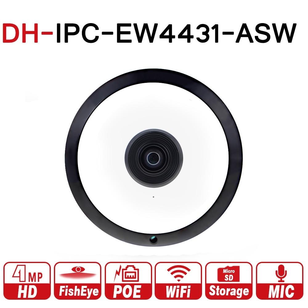 все цены на DH IPC-EW4431-ASW 4MP Panorama POE WIFI Fisheye IP Camera built-in MIC SD Card Slot Audio Alarm Interface with DH logo