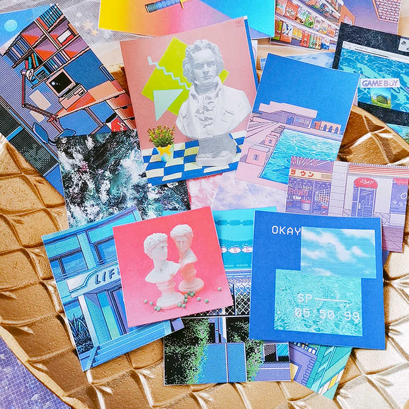 Buhar Dalga Serisi Çıkartmalar Önemsiz Dergisi Günlüğü Planlayıcısı Etiketler Scrapbooking Dekoratif Yaratıcı Sticker DIY Zanaat Fotoğraf Albümleri