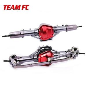 Image 1 - 1 ensemble 1/10 Rc voiture complète alliage CNC essieu avant et arrière en métal avec bras CNC usiné pour 1:10 Rc chenille axiale SCX10 RC4WD S242