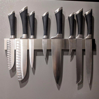 1 PCS 400mm Magnetic strip tool holder knife holder strong magnetic strong load bearing Stainless steel kitchen magnetic rack