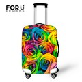 Thick Dust-proof Suitcase Protective Covers Apply To 18 - 30 Inch Trolley Travel Case 3D Flower Elastic Rain Cover For Luggage
