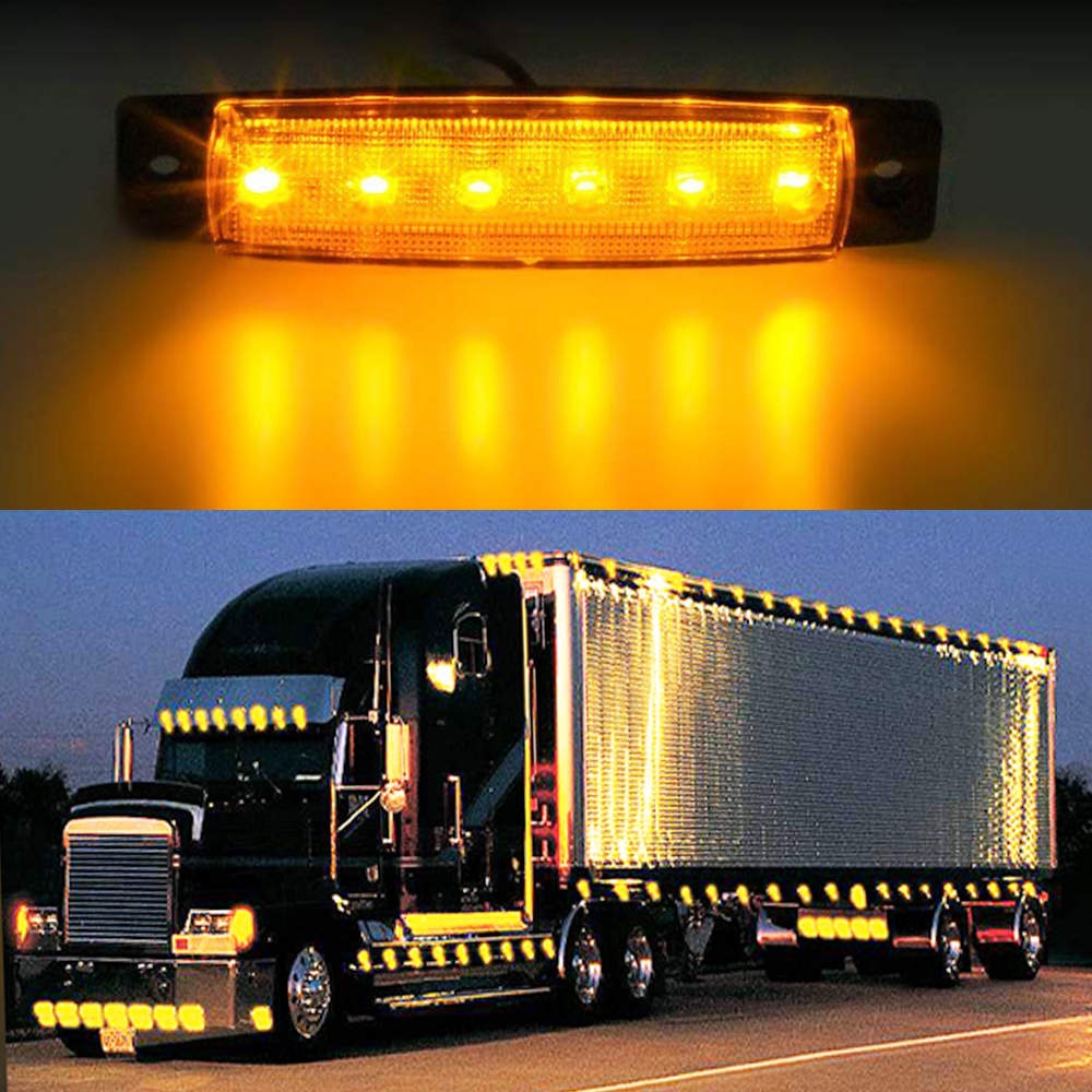 EAFC Car LED Side Clearance Lamp Tail Reverse Turn Signal Light Truck Trailer Lorry UTE Warning Fog Parking Lighting Bar