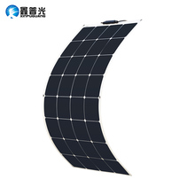 Solar Panel 100W 12V Bendable Flexible Charger Sun Power Class A Panneau solaire for RV, Boat, Cabin, Tent, Car, Trailer