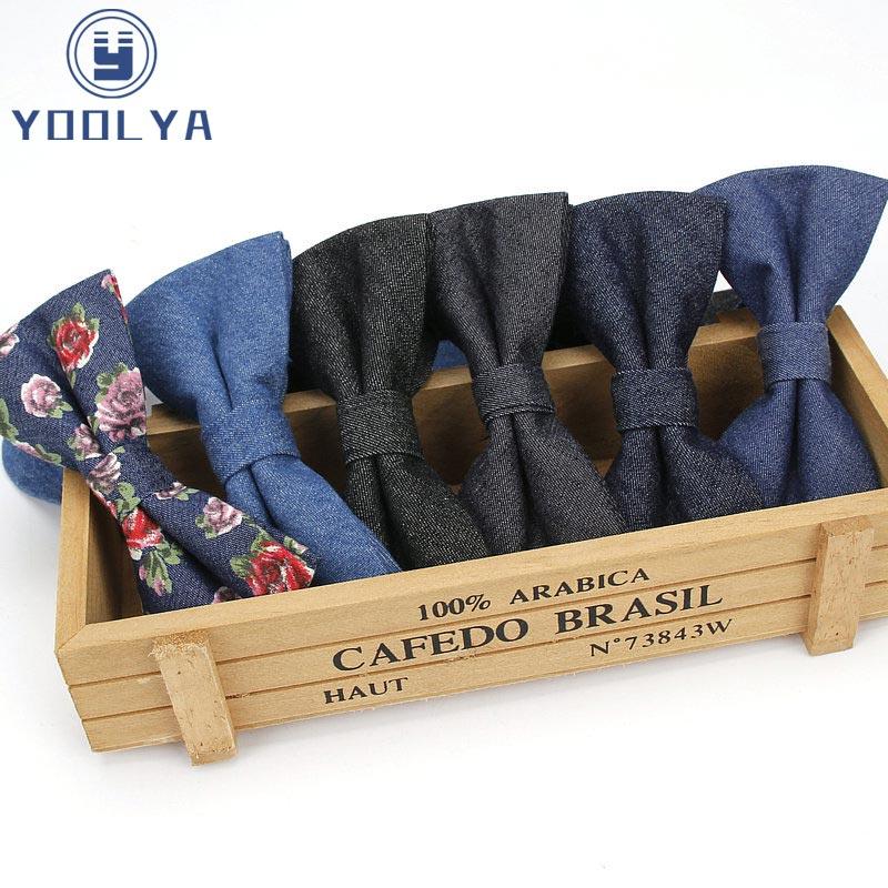 High Quality Cotton Bowtie For Men Casual Fashion Solid Floral Bow Ties Designer Cravat Jewelry Unisex Cotton Men Suit Bow Tie