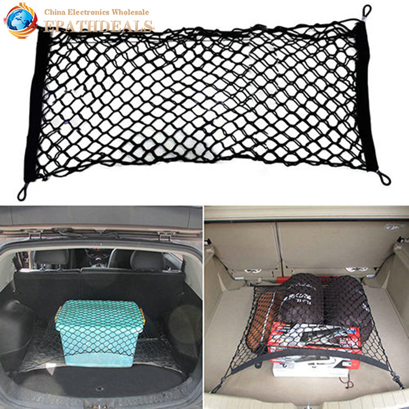 universal car back rear trunk seat elastic string mesh net cargo organizer carrying storage bag. Black Bedroom Furniture Sets. Home Design Ideas