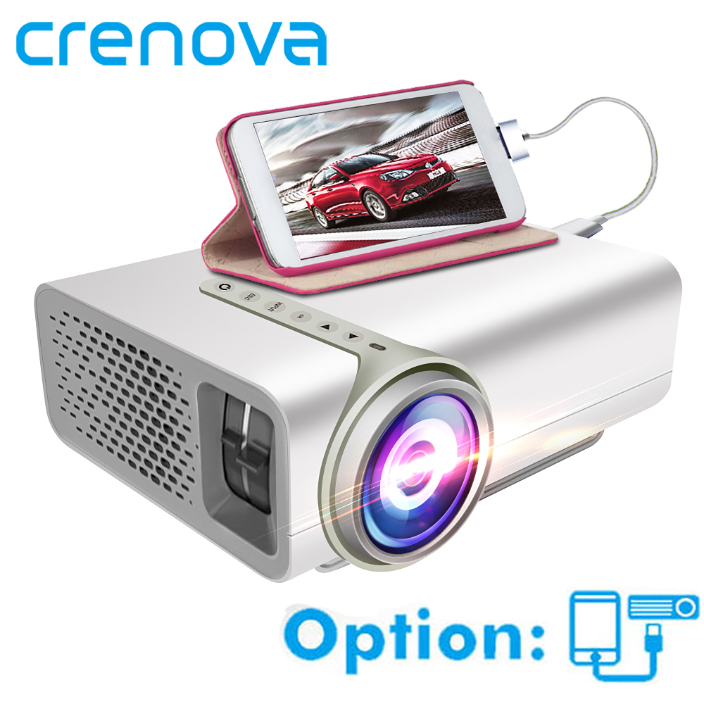 CRENOVA Lcd Projector For Smart Phone Projector Full HD 1920 1080p With HDMI USB VGA AV