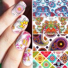 10 PCS/SET Top Quality Personalized Pattern Nail Foil Stickers Colorful Manicure Decoration Stickers DIY Nail Art Supplies недорого