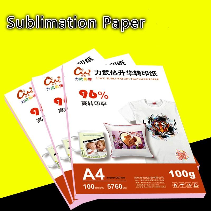 100 feuilles A3 A4 papier de Sublimation pour 3D machine de Sublimation imprimante d'encre tasse à taux de transfert élevé, roche de verre pour presse à chaud