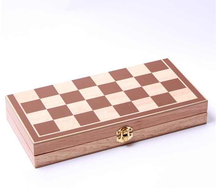 Size 4 Hot Sale New Design Foldable Wooden Chess 3 in 1 set of wooden Chess International Travel Games of chess in Chess Sets from Sports Entertainment