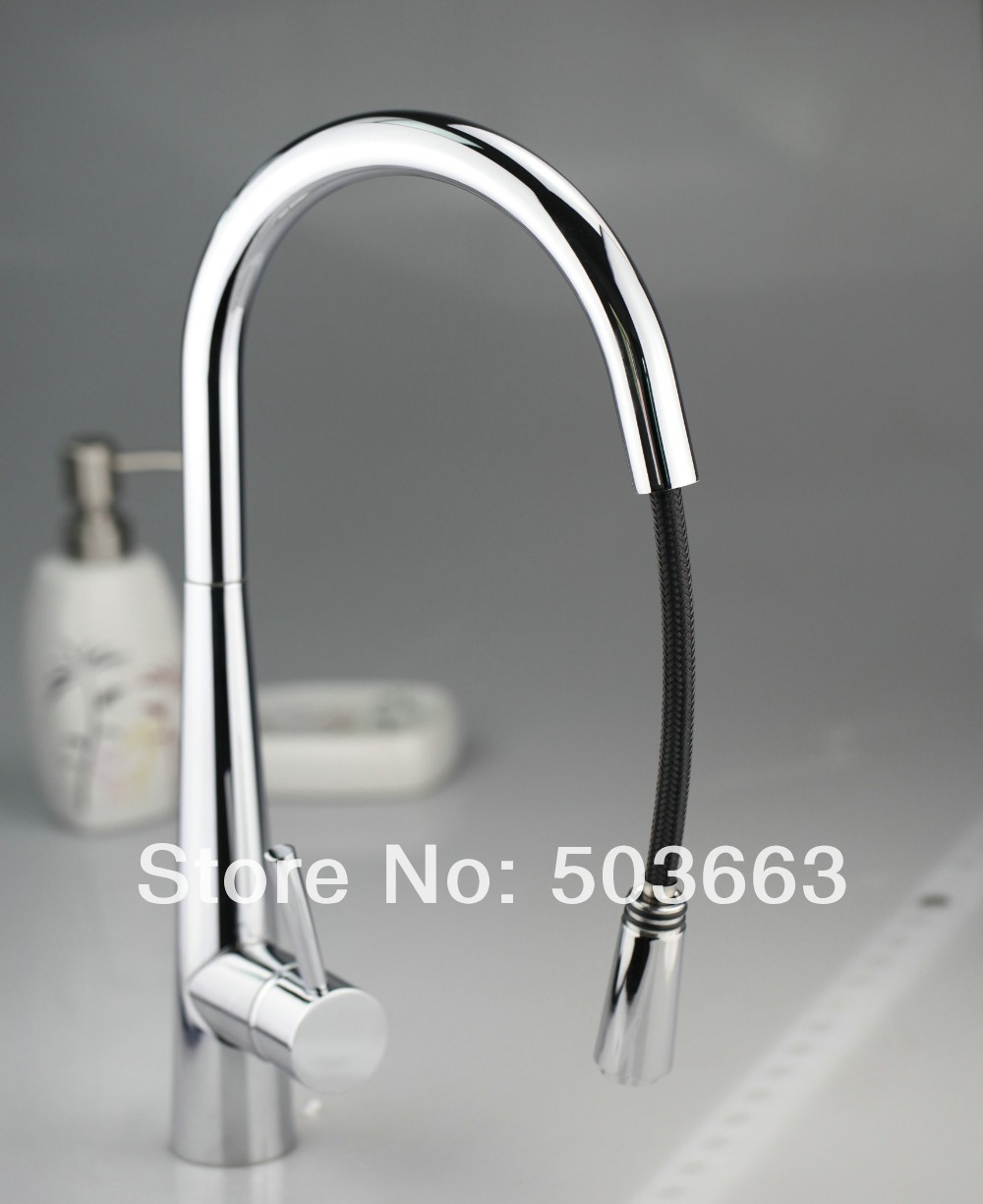 Best Price Chrome Brass Water Kitchen Faucet Swivel Spout Pull Out Vessel Sink Single Handle Deck Mounted Mixer Tap MF-375 polished chrome deck mounted bathroom kitchen faucet tap single handle with brass soap dispenser