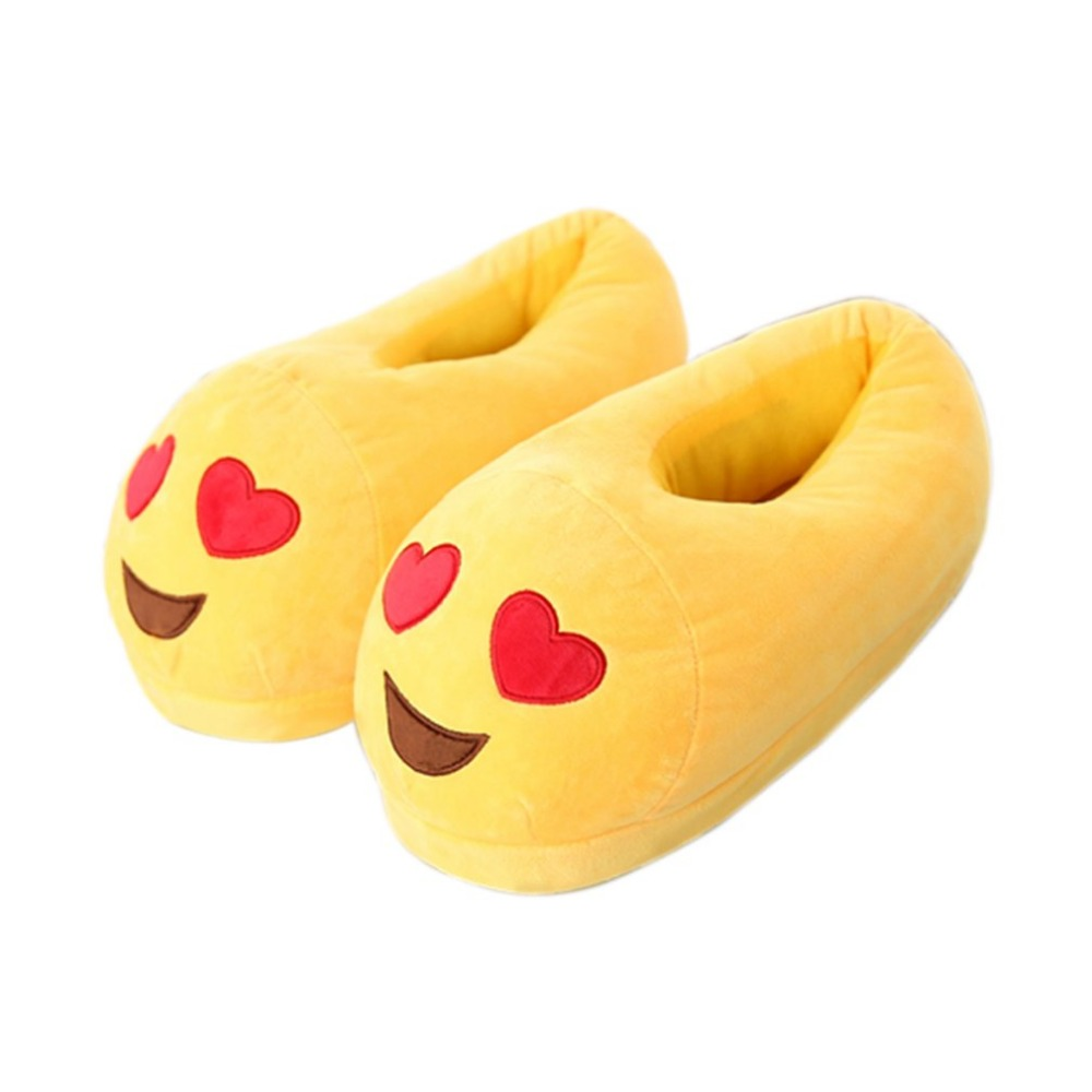 Indoor Warm Slippers Winter Cotton Plush Slipper Smiley Emotion Lovely Cartoon Shoes Slippers Comfortable Slipper Men Womennew men winter soft slippers plush male home shoes indoor man warm slippers shoes
