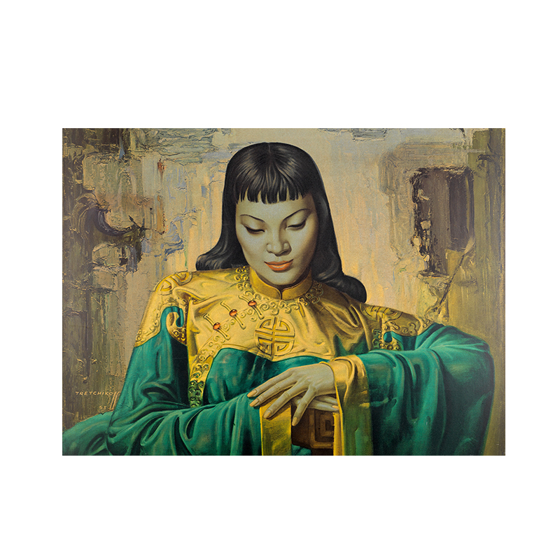 Tretchikoff Lady from Orient Reproduction Oil Painting on Canvas Posters and Prints Scandinavian Wall Picture for