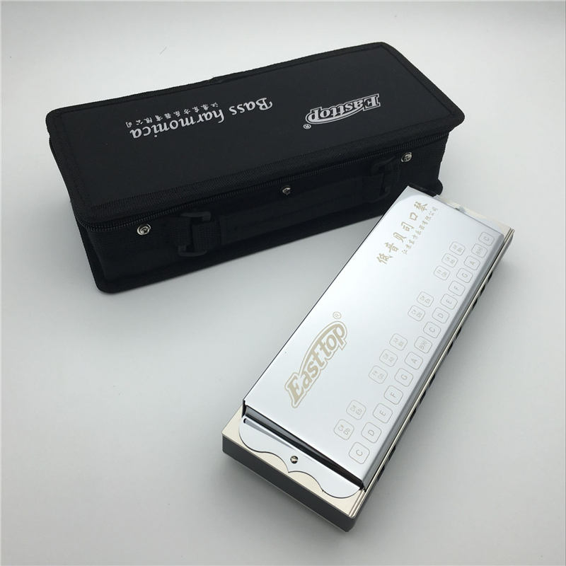 25 Holes Harmonica bass Easttop T1 bass Professional Performance Musical Instruments Metal Mouth Ogan Orchestrs Harmonica Bass easttop brass chromatic harmonica 16 hole brass abs comb musical instruments mouth organ chromatic slide harmonica good sound