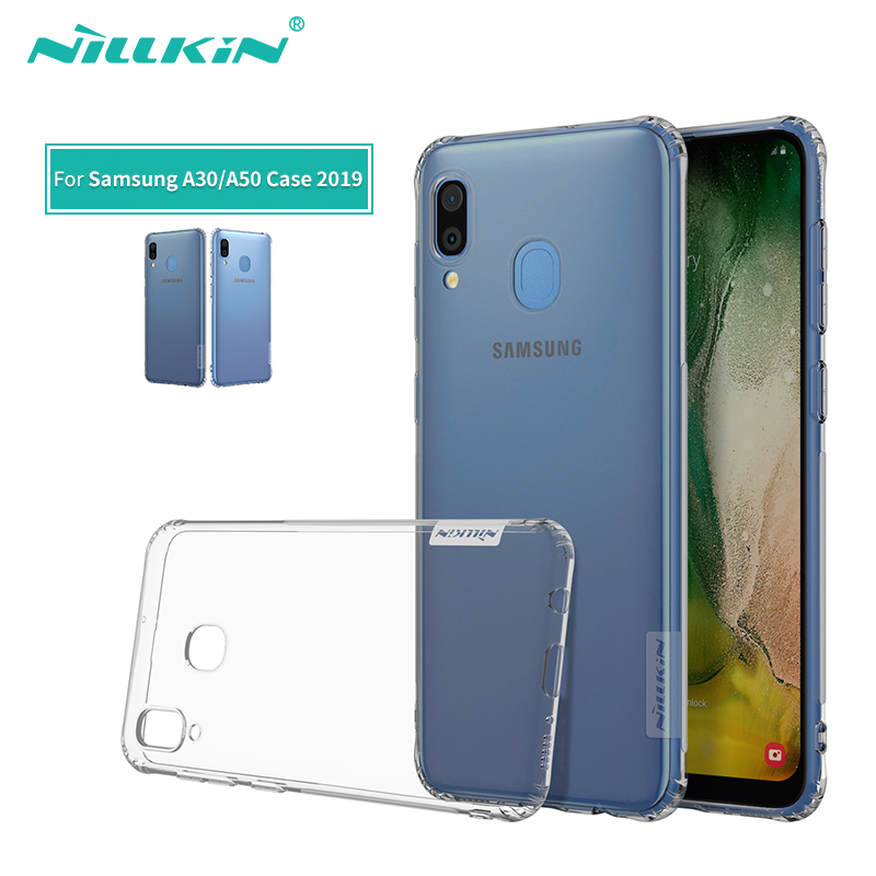 For Samsung Galaxy A30 Case 2019 Nillkin Nature Transparent Clear Soft silicon TPU Protector cover For Samsung A50 Case 6.4For Samsung Galaxy A30 Case 2019 Nillkin Nature Transparent Clear Soft silicon TPU Protector cover For Samsung A50 Case 6.4