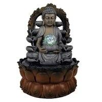 110 В/220 В благоприятная фигурка буддийского монаха Статуэтка фэн шуй фонтан счастливый Настольный орнамент фонтан воды украшение дома подар