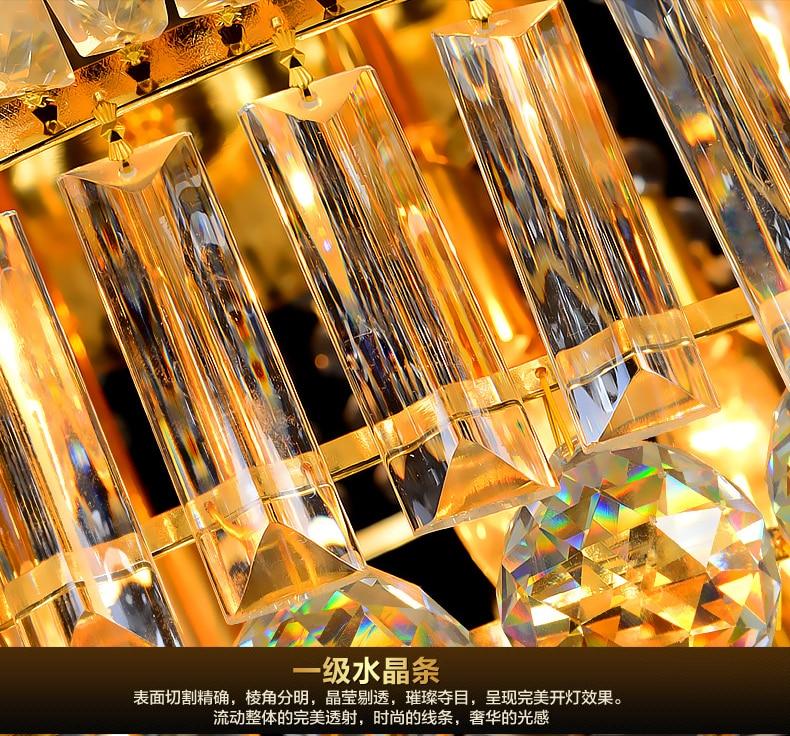 LED Moderno Lustres de Cristal de Ouro Luminária Redonda de Luxo - Iluminação interior - Foto 6