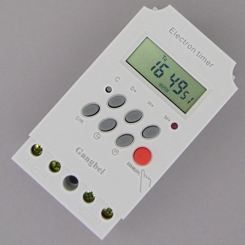 Minuterie giornaliero Programmable MINUTERIE Numérique COMMUTATEUR de Contrôle Du Relais 220 V Minuterie interrupteur 230 v 25A minuterie KG316 relais temps