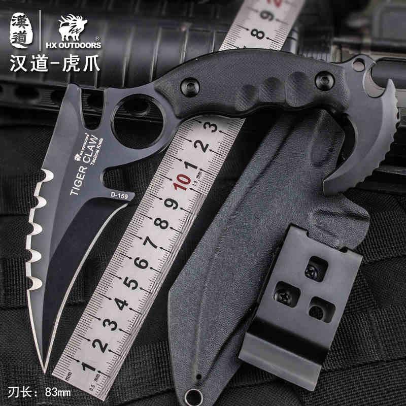 Купить HX На Открытом Воздухе Тактическая Karambit Нож Cs ходу Отдых На Природе Выживание Охота Коготь Ножи EDC Многоцелевой Инструменты D2 Клинок Охотник Ноёи дешево