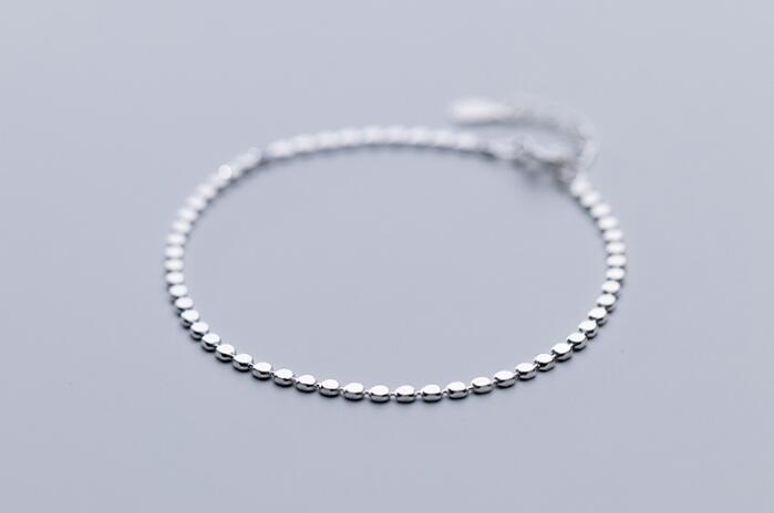 1p simple 2mm Authentic REAL. 925 Sterling Silver Jewelry Round Coin chain /anklet Bracelet GTLS8521p simple 2mm Authentic REAL. 925 Sterling Silver Jewelry Round Coin chain /anklet Bracelet GTLS852