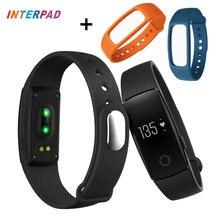 ID107 Pulseras Inteligentes Bluetooth ID 107 Banda Inteligente Pulsera Pulsómetro Rastreador de Ejercicios Para iOS Android Smartphone