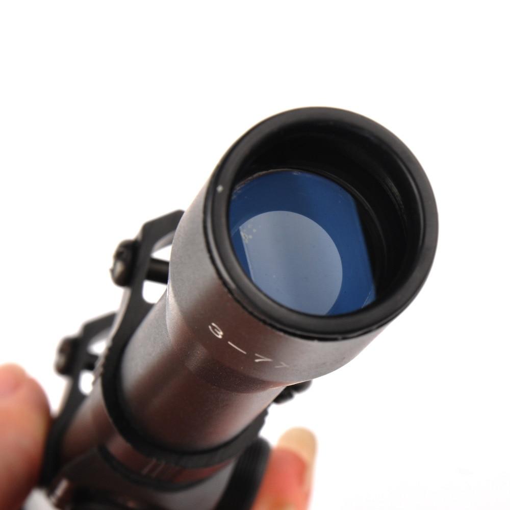 3-7X20 Telescopic Optic Riflescopes Cross Reticle Illuminated with <font><b>11mm</b></font> Rail Mount For Airgun